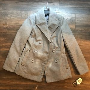 Rampage Grey Pea Coat